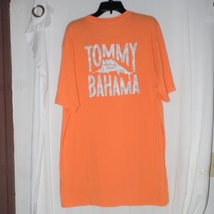 Tommy Bahama Flora Orange Short Sleeve T-shirt XLT